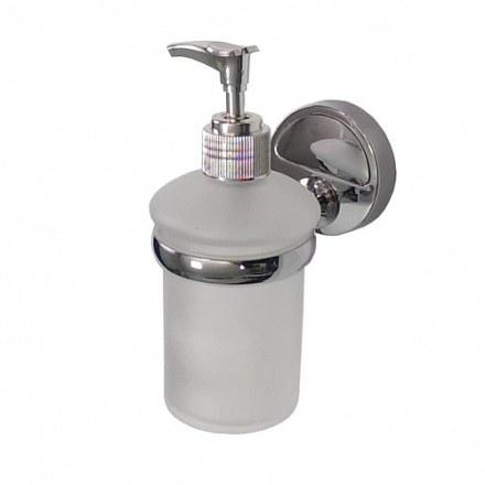 Дозатор для жидкого мыла прозрачный, настенный САНАКС 1227