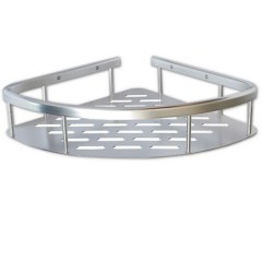 САНАКС – Полочка угловая одинарная алюминиевая с литым дном 22 см 75068