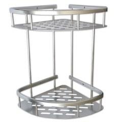 САНАКС – Полочка угловая двойная алюминиевая с литым дном 22см