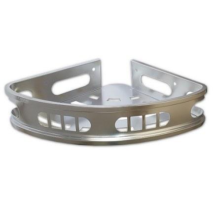 САНАКС – Полочка угловая одинарная алюминиевая с литым дном с широким бортом 24 см