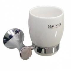 Стакан керамический с креплением к стене  MAGNUS  85005