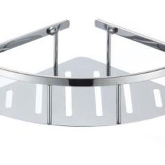Полка угловая овальная с литым дном одинарная 22 см TITAN  77350