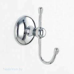 Крючок одинарный,кругл.крепление,хромирован.LIDER 1091