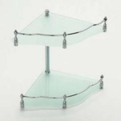 Полка стеклянная двухуровневая угловая LIDER 1196