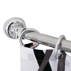 Карниз дугообразный универсальный для ванной хромированный