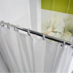 Карниз угловой универсальный в ванную 70*170 (90*160) хромированный РП