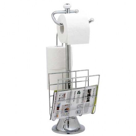 Подставка для туалетной бумаги с газетницей TESTRUT