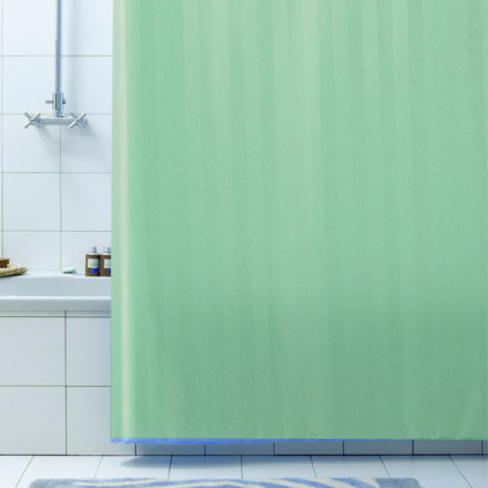 Штора для ванны 180Х200 RIGONE  зеленая BACCHETTA