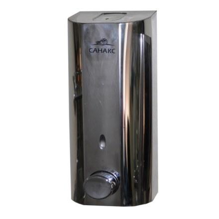 Дозатор жидкого мыла настенный металлический- 300 мл, нержавейка хромированная,