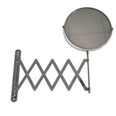 Зеркало косметическое настенное большое , раздвижное , гармошка нержавейка хромированная
