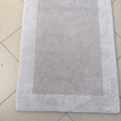 Коврик хлопковый в ванную 75X50 серый QUATRO ПОЛЬША