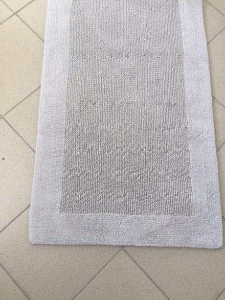Коврик хлопковый в ванну 100X60 серый QUATRO ПОЛЬША