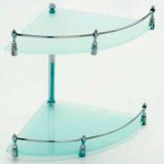 Полка стеклянная двухуровневая угловая LIDER 1193