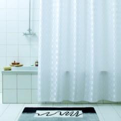 Штора для ванны  QUADRETTO белая 180Х200 BACCHETTA
