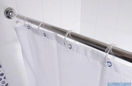 Карниз раздвижной для ванной 125-220 D20 хромированный  ПОЛЬША
