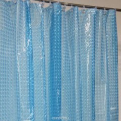 Шторка для ванной 3D 180Х180 см. синяя