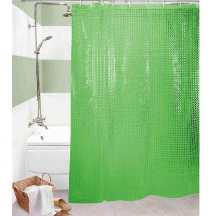 Шторка для ванной 3D 180Х180 см. зеленая