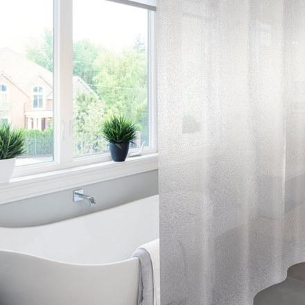 Штора для ванны MEIWA, KRACKLE прозрачная