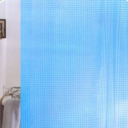 Шторка для ванной 3D 180Х180см. голубая