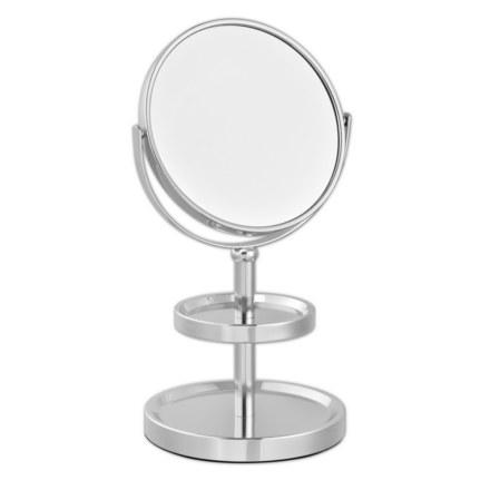 Зеркало косметическое настольное с полочками для украшений 051101