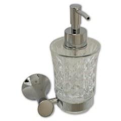 Дозатор для жидкого мыла из резного стекла MAGNUS 85145