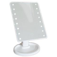 Зеркало настольное БЕЛОЕ со светодиодной подсветкой , сенсорное САНАКС 75272