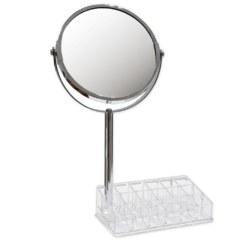 Зеркало косметическое  с подставкой для макияжных принадлежностей САНАКС 75273