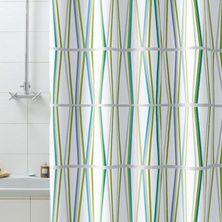 Штора для ванны  BAMBU зеленая 180Х200 BACCHETTA