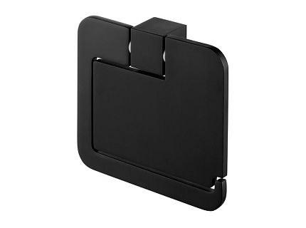 Держатель для туалетной бумаги с крышкой FUTURA BLACK 02961