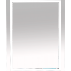 Зеркало Misty 2 Неон  LED 600х800 клавишный выключатель (двойная подсветка)