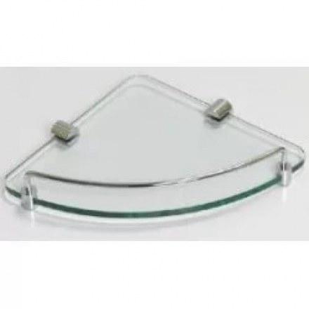 Полка угловая одинарная (стеклянная) SAVOL S-003011