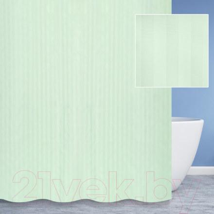 Шторы для ванной  S-01820G зеленая