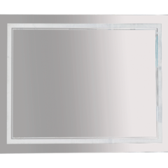 Зеркало Misty 2 Неон LED 1000х800 клавишный выключатель (двойная подсветка)