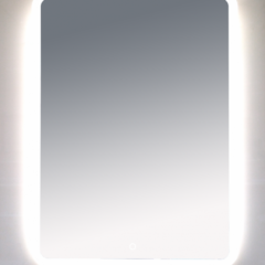 Зеркало Misty 3 Неон LED 600х800 сенсор на зеркале (с круглыми углами)