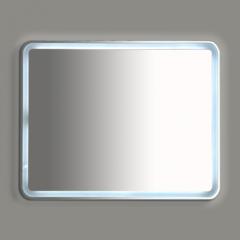 Зеркало  Misty 3 Неон LED 1000х800 сенсор на корпусе (с круглыми углами)