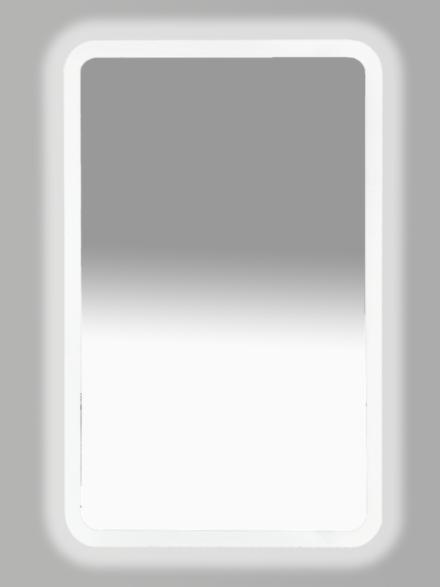 Зеркало Misty 3 Неон LED 500х800 клавишный выключатель (с круглыми углами)