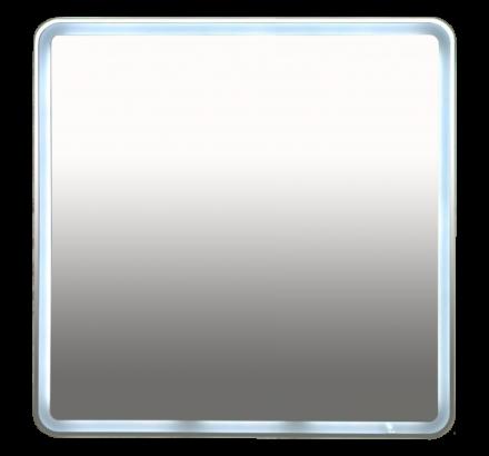 Зеркало Misty 3 Неон LED 800х800 клавишный выключатель (с круглыми углами) П-Нео080080-3ПРКВКУ
