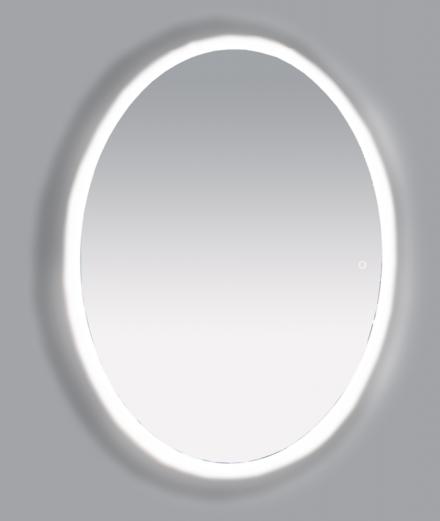 Зеркало Misty 4 Неон  LED 600х800 сенсор на корпусе (овальное)
