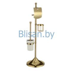 Напольная стойка  (бумагодержатель, держатель освежителя, ерш ) золото SAVOL  S-0Y580A