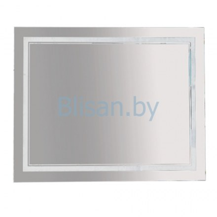 Зеркало Misty 2 Неон  LED 1000х800 сенсор на корпусе (двойная подсветка)