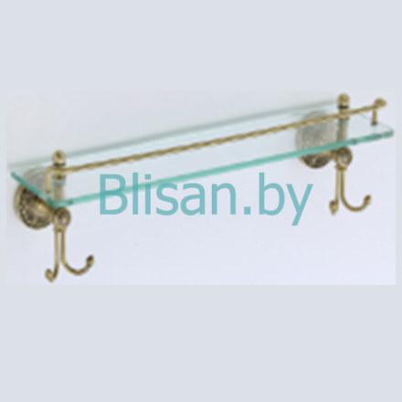 Полка прямая (стеклянная) 60 см SAVOL бронза S-005891C