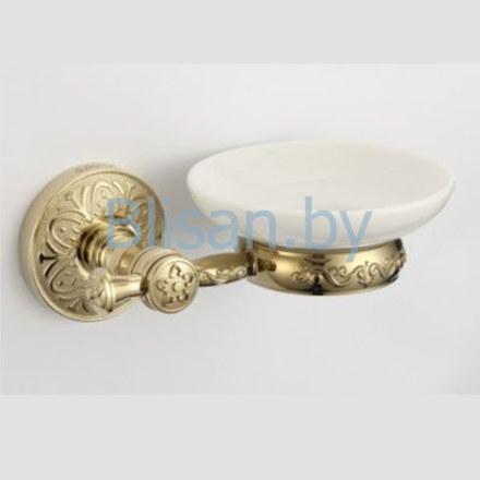 Мыльница керамическая SAVOL золото S-005859В