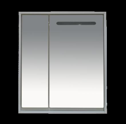 Шкаф с зеркалом для ванной Misty Барселона 90 / П-Брс02090 (с подсветкой)
