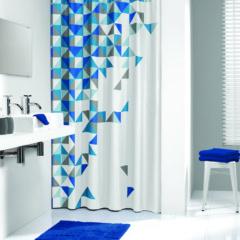 Штора для ванной TXT TANGRAM 180X200 синяя