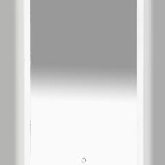 Зеркало Misty Неон 3 LED 800х800 сенсор на зеркале (с круглыми углами)