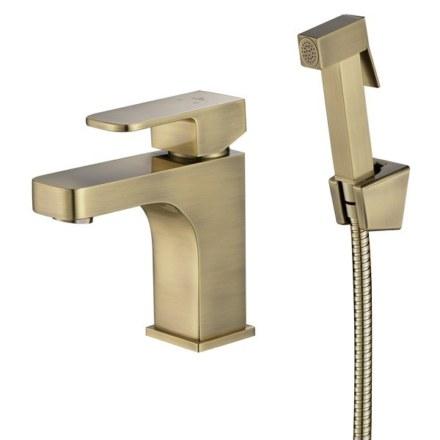 Смеситель KAISER Sonat  34088-1 бронзовый раковины с гигиеническим душем