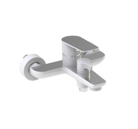 """Смеситель KAISER Atrio 60022 для ванны в цвете """"Белый с хромом"""""""
