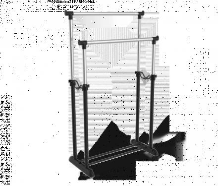 Вешалка Sheffilton SHT-WR4150 (черный/черный муар/хром лак)