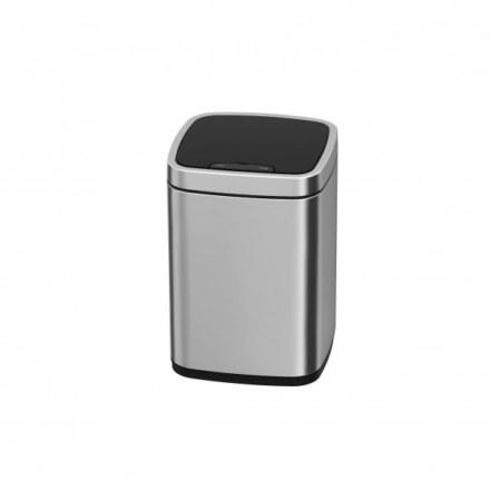 Сенсорное мусорное ведро JAVA Rome 9L Matt Steel 65790