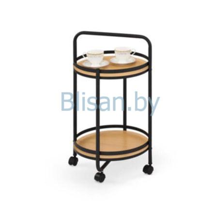 Стол сервировочный Halmar BAR-11 (дуб натуральный/черный)